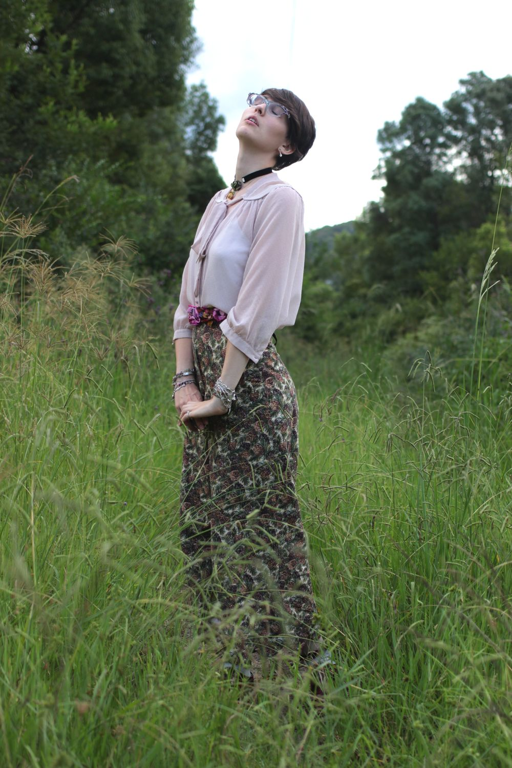 Shoes: Therapy, Pants: Home Made, Belt: Alannah Hill, Blouse: Thrifted
