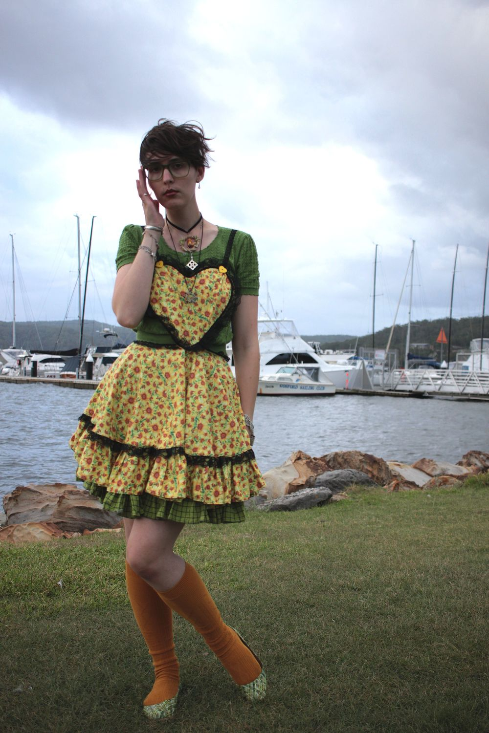 Shirt: Revival, Pinafore: Home Made, Skirt: Home made, Socks: don't remember, Shoes: Store in Sydney near Max Brennar Wynyard.
