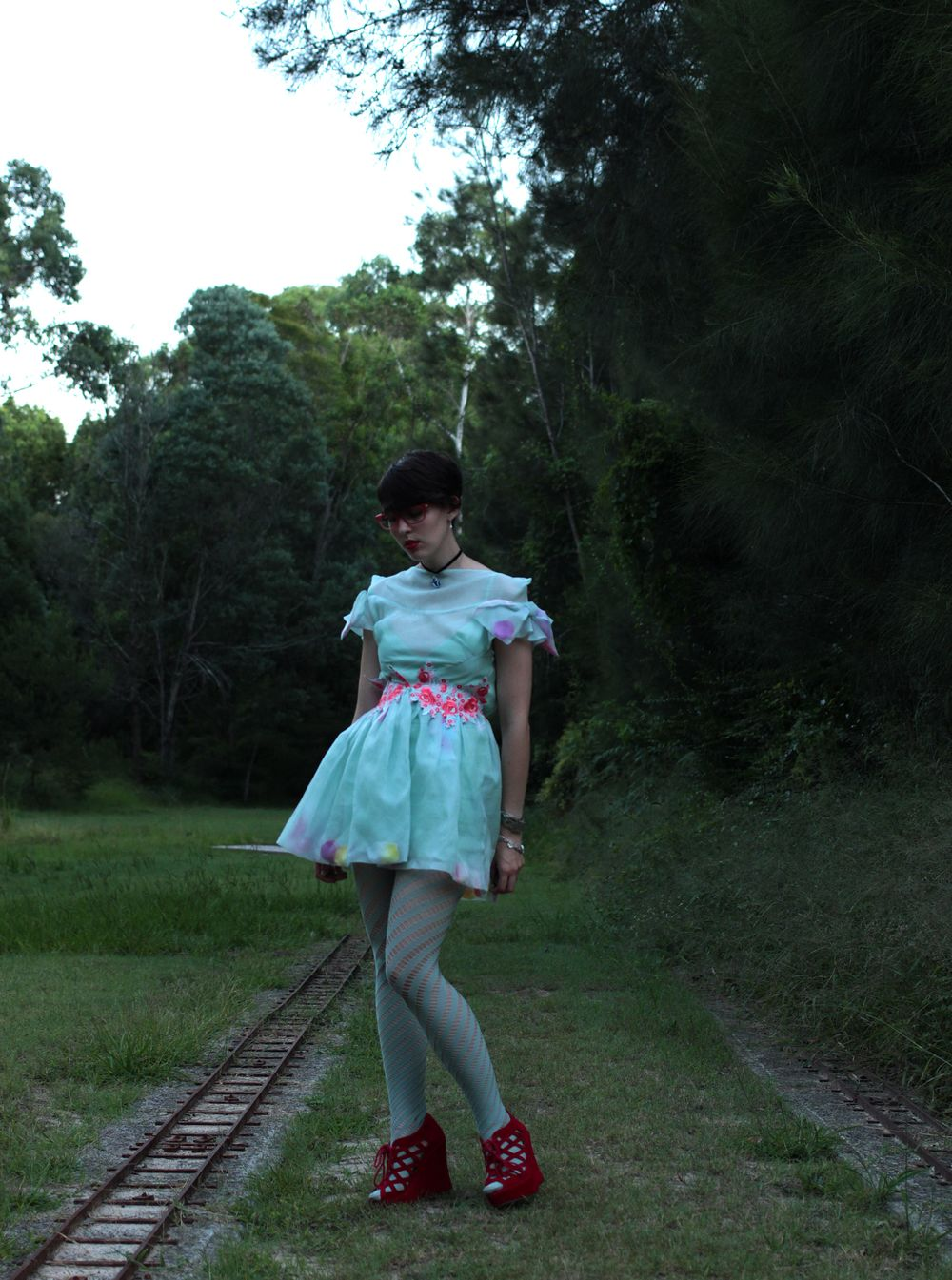 Dress: Lady Petrova, Tights: Ebay, Shoes: Thrifted.