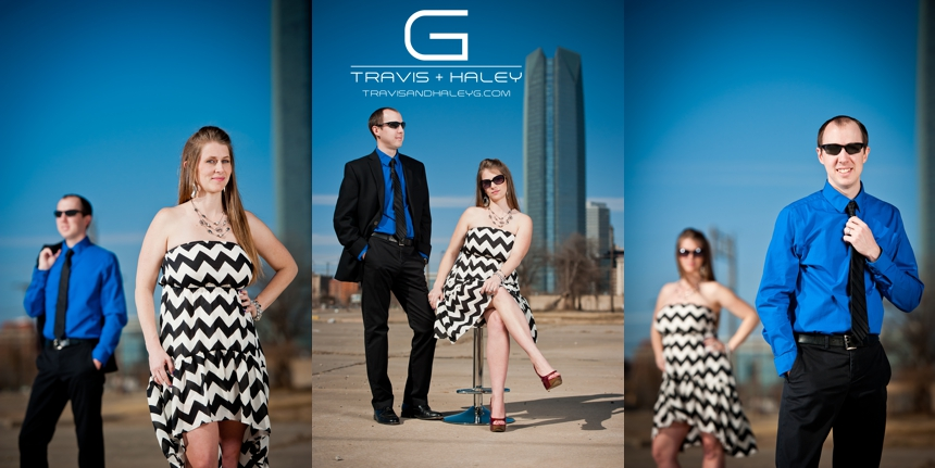 rockstar fun romantic oklahoma city wedding photography sunglasses suit tie dress