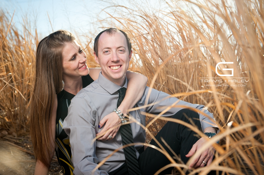 field outdoor tall grass modern engagement photographers