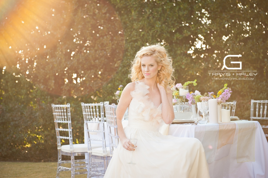whimsical bride flowers sun flare travis + haley g