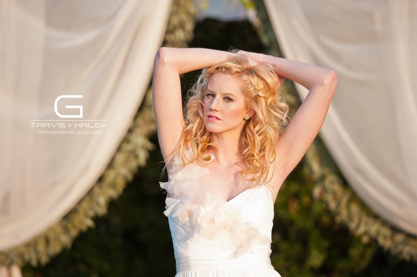 whimsical outdoor bridal photos