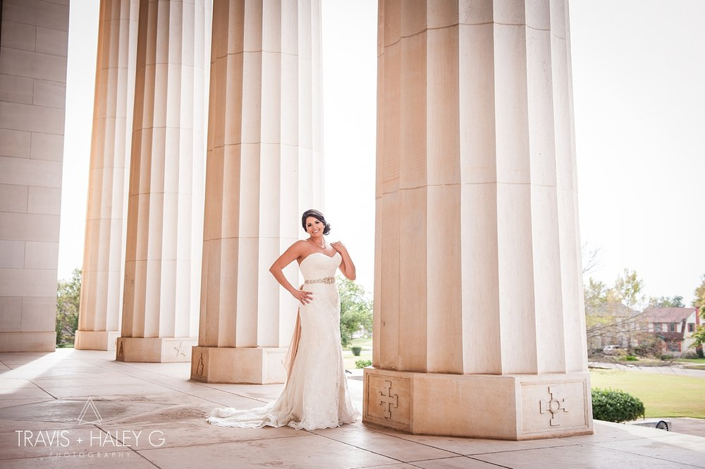 Scottish Rite Temple-Bridal Portraits-Oklahoma Wedding Photography-Travis and Haley G
