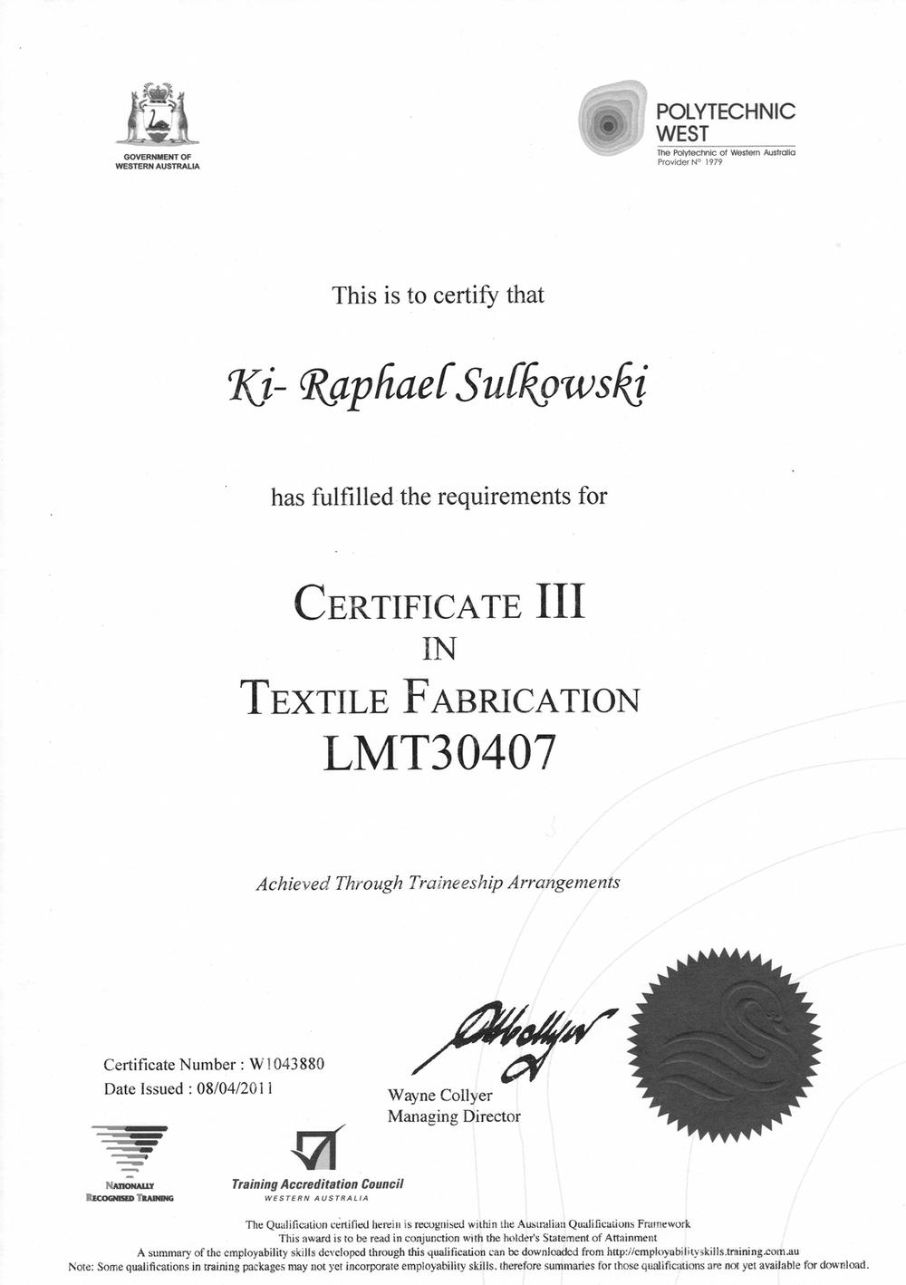k1 sail marine trimming qualification