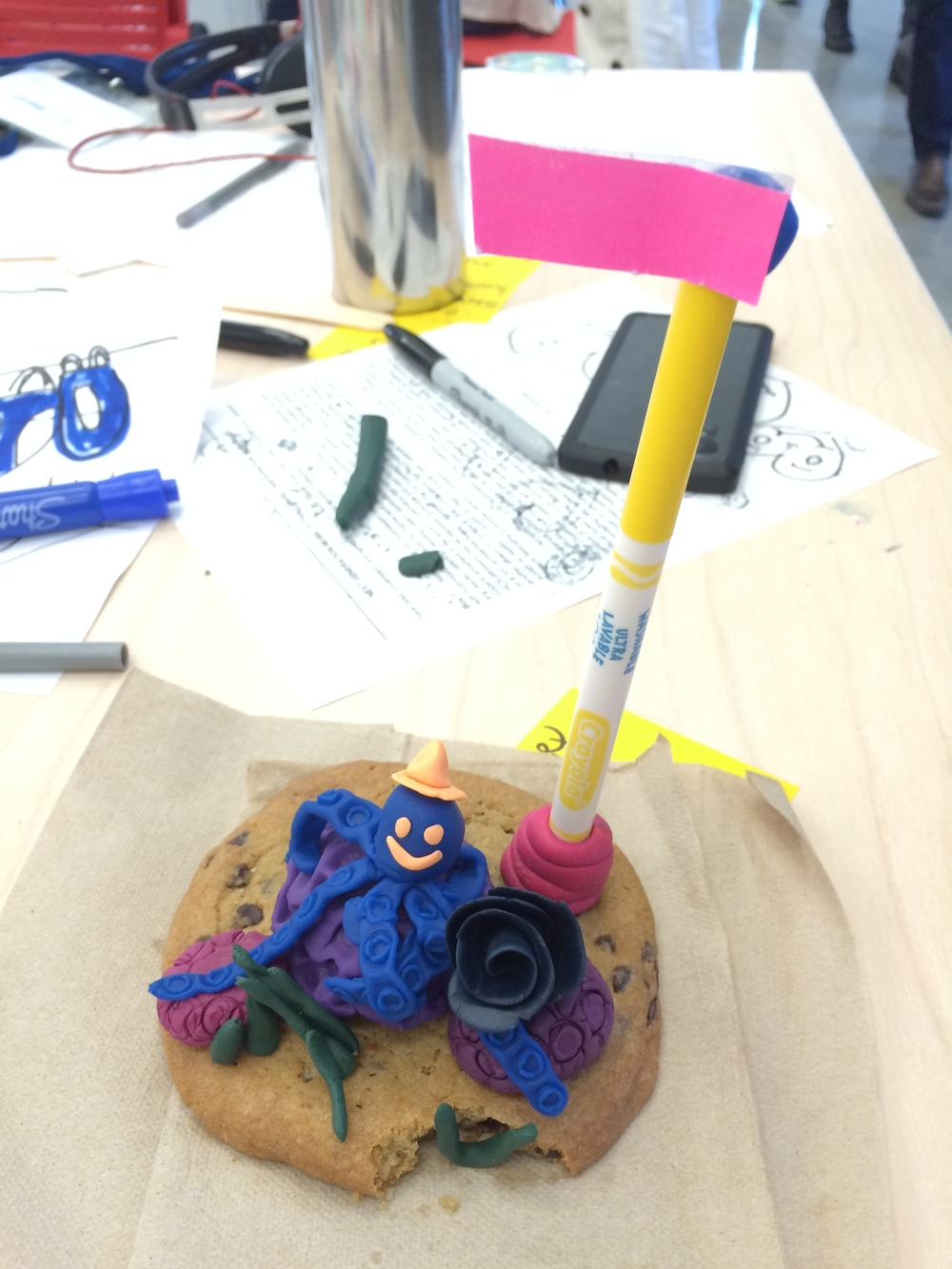 Who can resist it when there's Play-Doh around... Team mascot :)