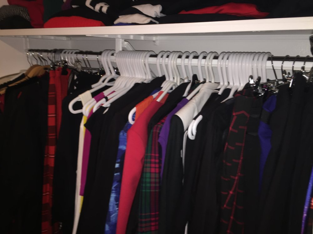 My closet as I am writing this, not always 'perfect' cause there is no such thing.