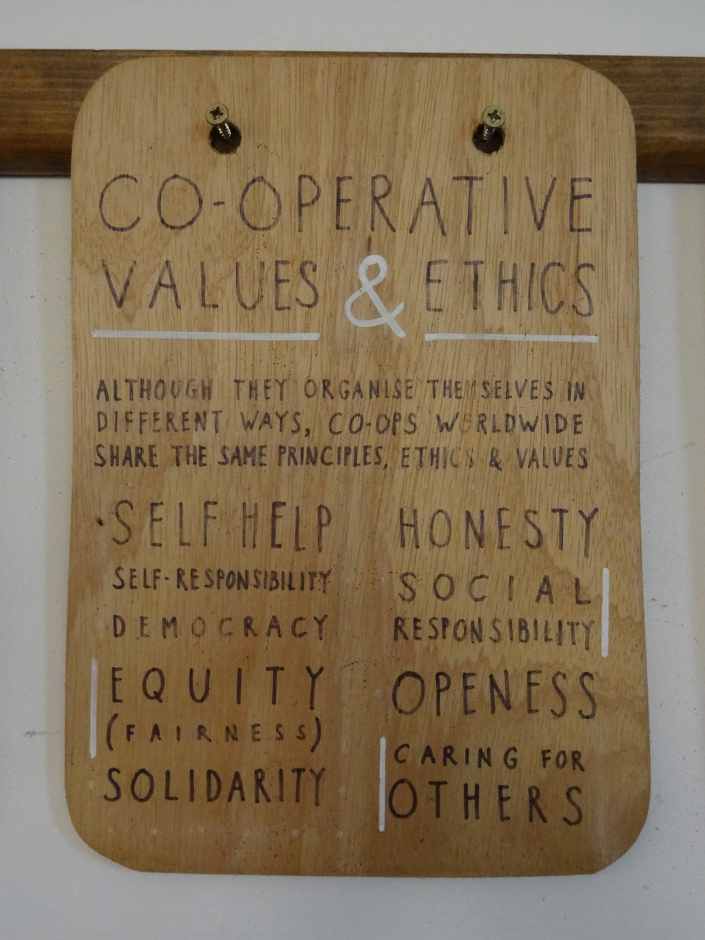 cooperative values and ethics