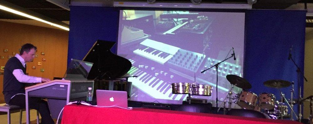 Guangzhou (China), lecture & concert on Yamaha, 2015