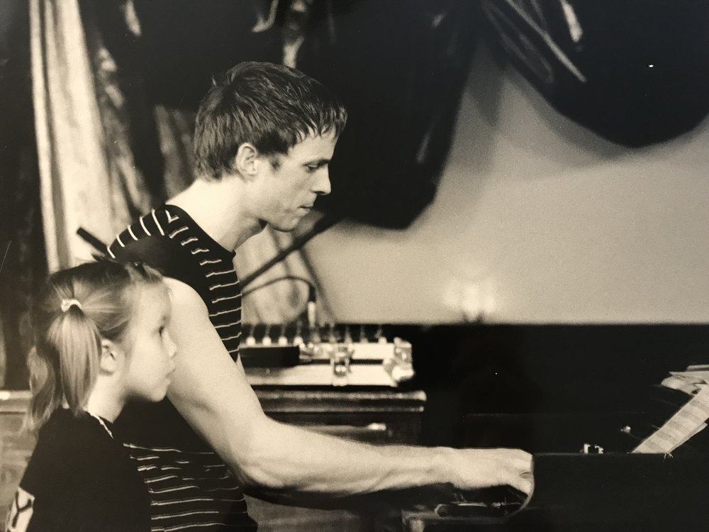With Romy (1999) - Although she was just four years old, every now and then she would keep me company on stage during a performance