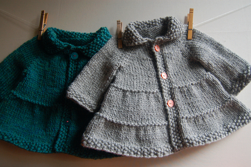 Tiered Baby Coat Frogginette Knitting Patterns