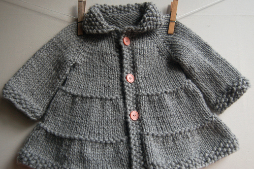 3a97203ca Tiered Baby Coat and Jacket knitting pattern by Lisa Chemery - Frogginette Knitting  Patterns