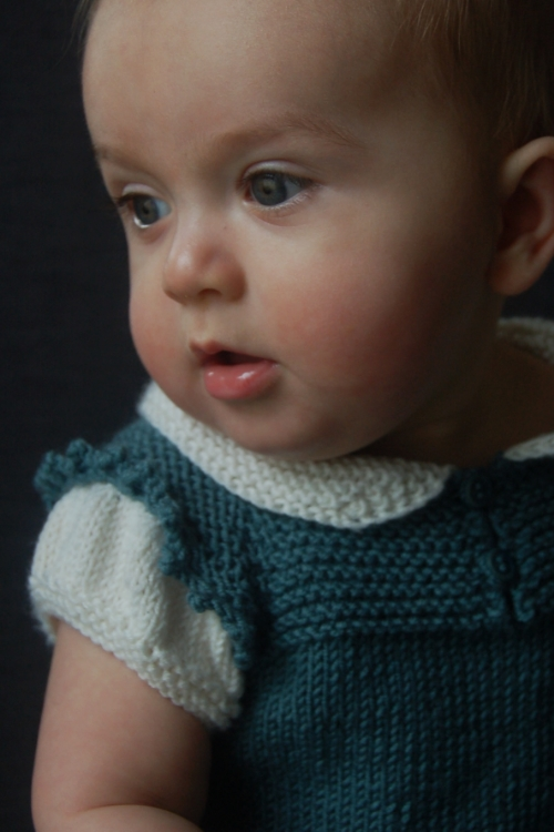 Claudine dress and top knitting pattern by Lisa Chemery - Frogginette Knitting Patterns