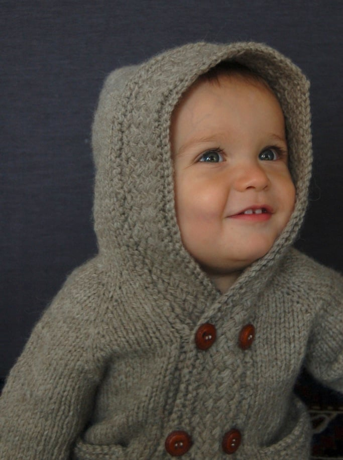Latte Baby Coat knitting pattern by Lisa Chemery - Frogginette Knitting Patterns