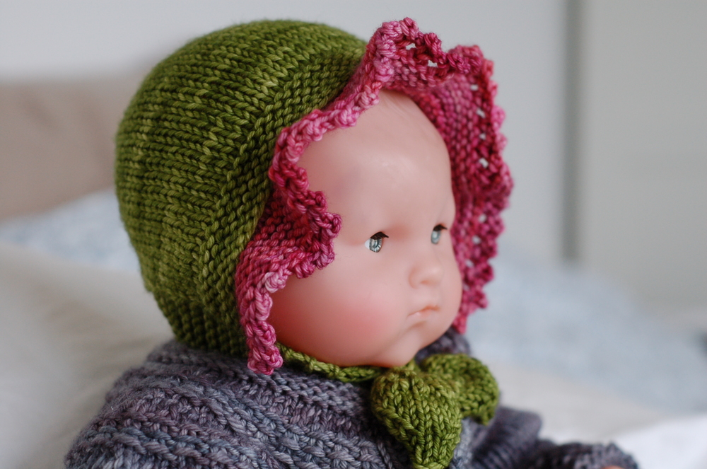 Buds and Blossoms Bonnet knitting pattern by Lisa Chemery - Frogginette Knitting Patterns