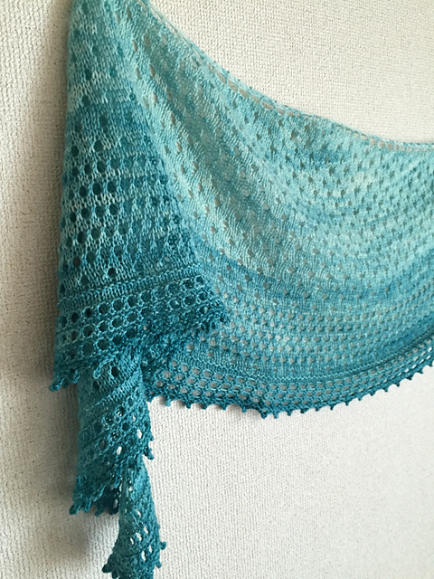 Pebble Beach Shawl by Helen Stewart