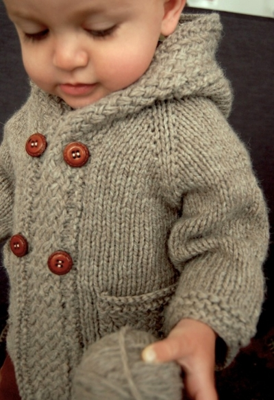 Latte Baby Coat by Frogginette Knitting Patterns