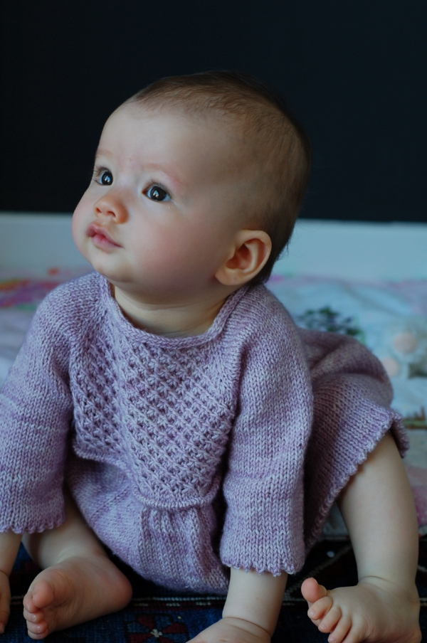 Hanami dress by Frogginette Knitting Patterns