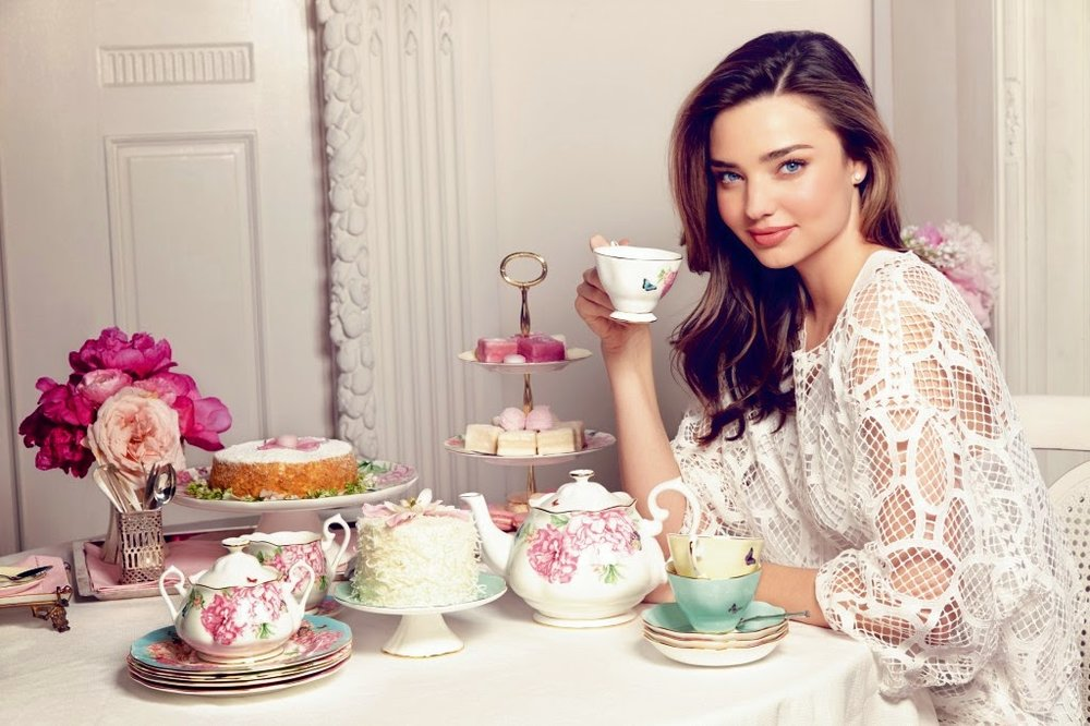 We are excited and proud of our partnership with world-renowned supermodel and entrepeneur Miranda Kerr. Miranda perfectly embodies the essence and nature of the Royal Albert brand, bringing catwalk glamour to afternoon tea.