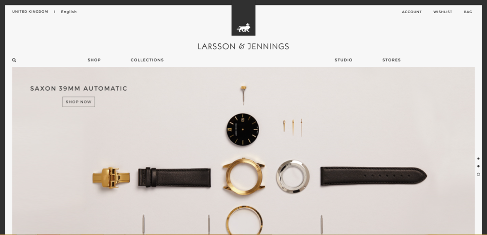 Their website lets the designs do the talking. SOURCE: https://www.larssonandjennings.com