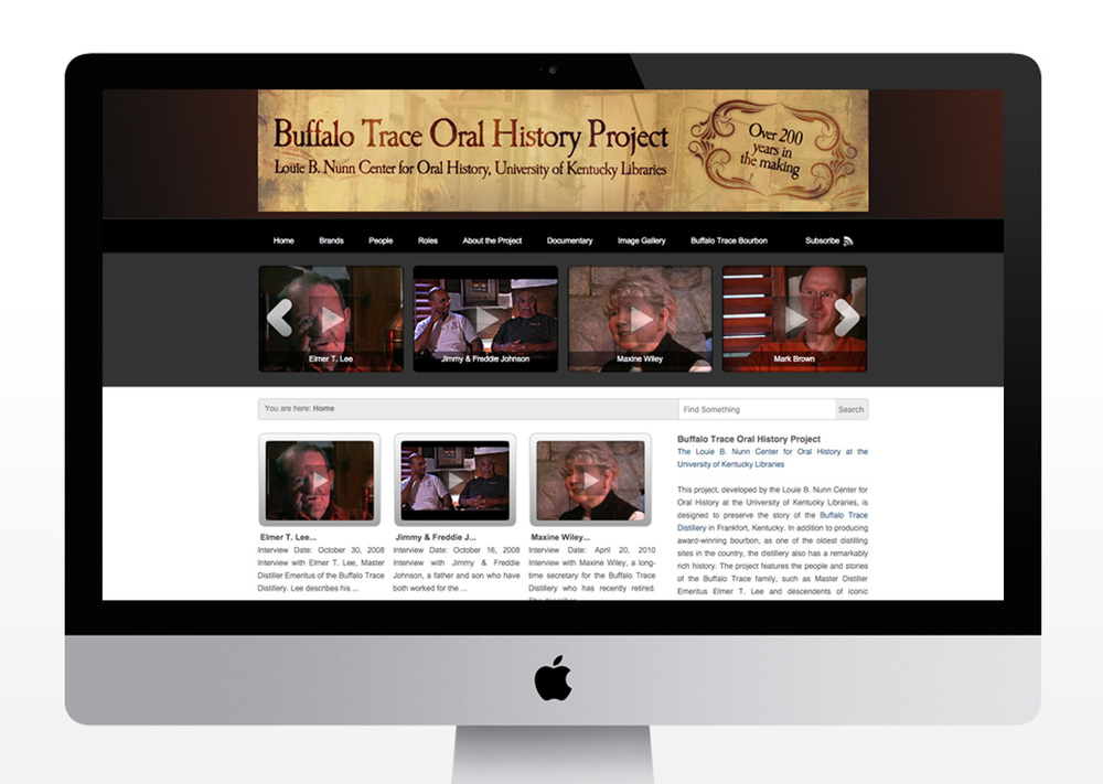 Buffalo Trace Oral History Project Website
