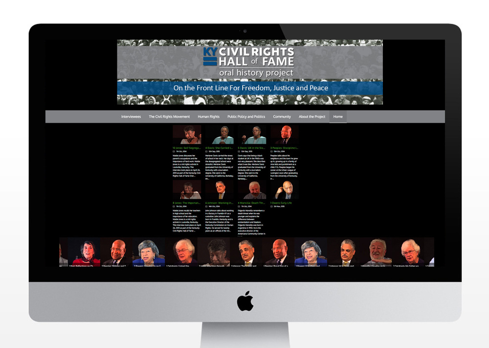 Kentucky Civil Rights Hall of Fame Oral History Project Website
