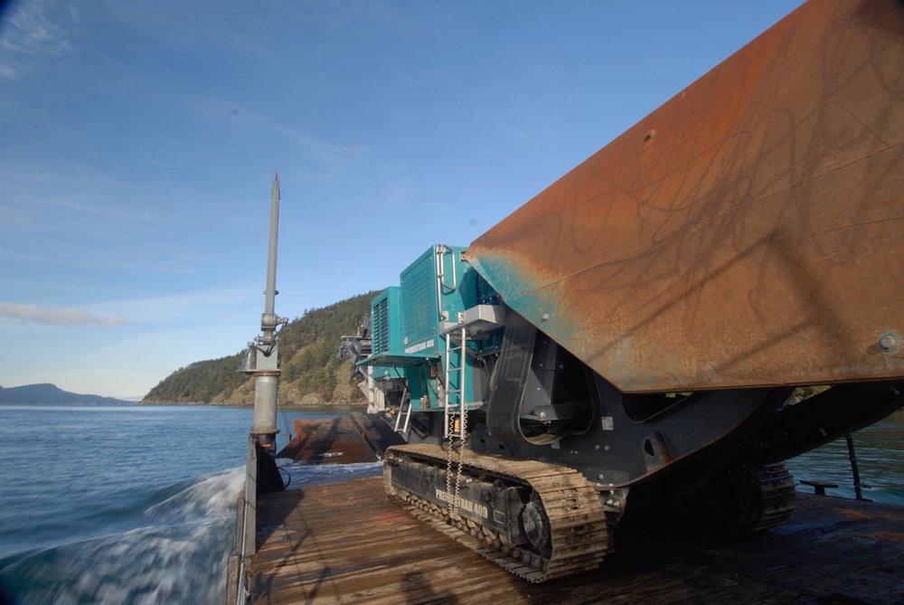 Class 1 explosives, mining, quarry equipment, excavation, seawall, marine construction heavy equipment