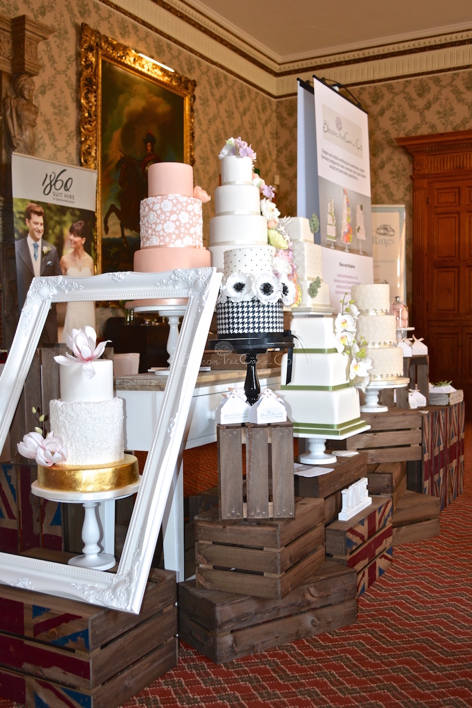 Blossom Tree Cake Co at Goldsborough Hall wedding fair March 2015.jpg