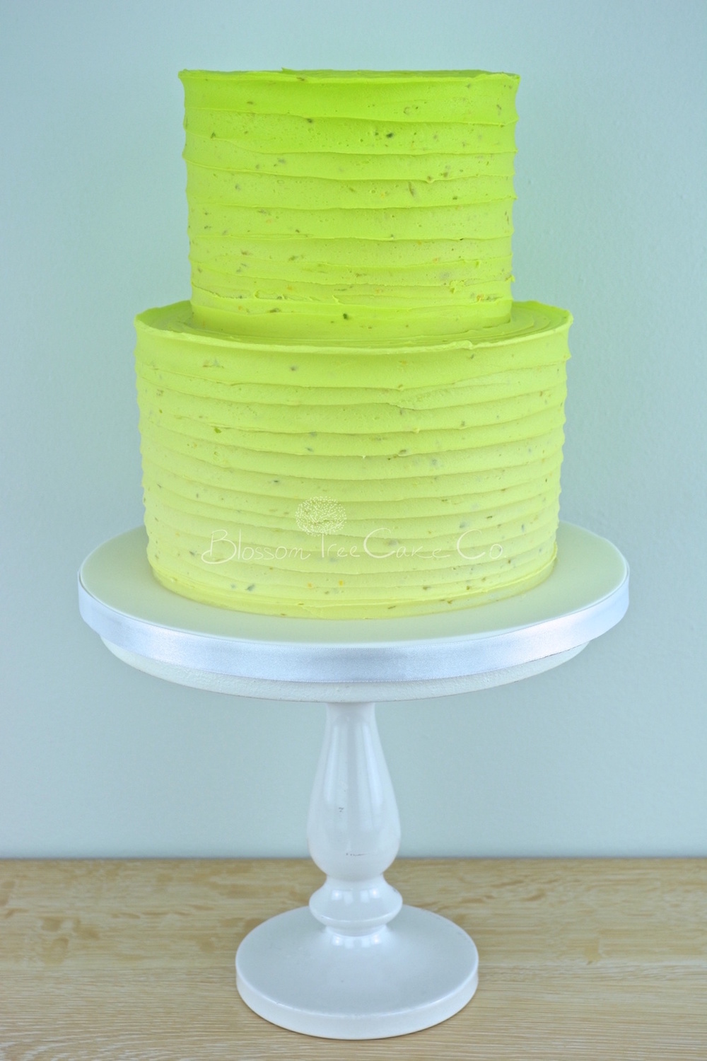 Lime Ombre celebration cake by Blossom Tree Cake Co.jpg