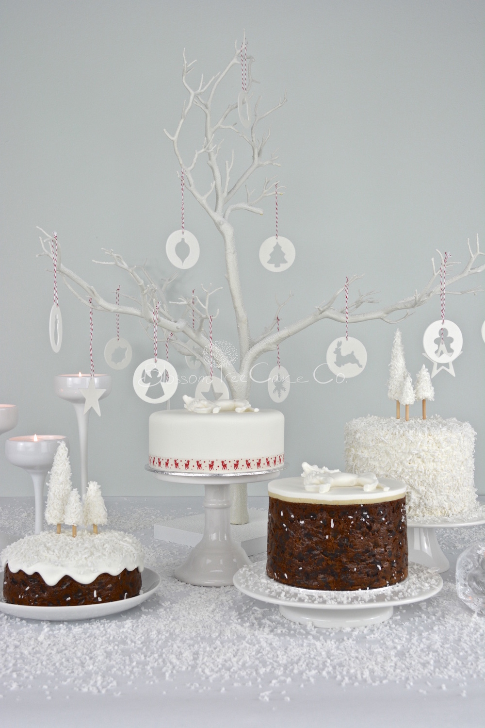 Christmas cakes by Blossom Tree Cake Co Harrogate North Yorkshire.jpg