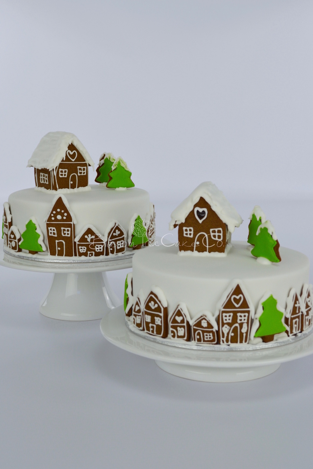 Gingerbread Village Christmas cake by Blossom Tree Cake Co Harrogate North Yorkshire.jpg