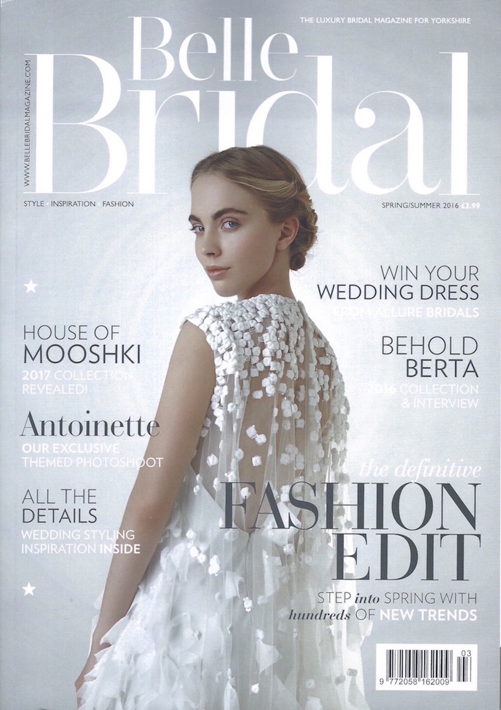 Belle Bridal Magazine Spring Summer 2016 Yorkshire Front Cover.jpeg