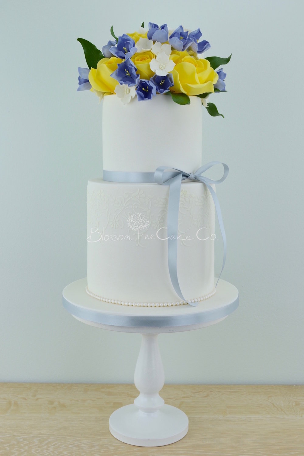 Friesia Roses wedding cake by Blossom Tree Cake Company Harrogate North Yorkshire
