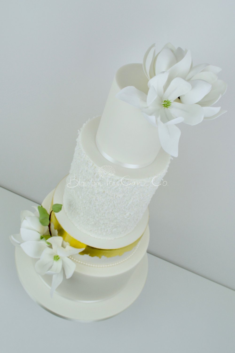 White Magnolias wedding cake by Blossom Tree Cake Company Harrogate North Yorkshire