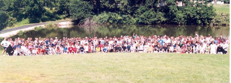 A picture of a group of campers at Lake Maurer Campground in Excelsior Springs, Missouri.