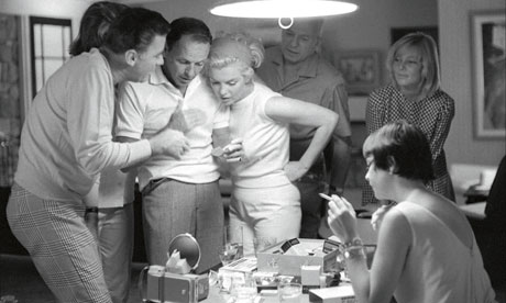 Peter Lawford, Frank Sinatra and Marilyn Monroe