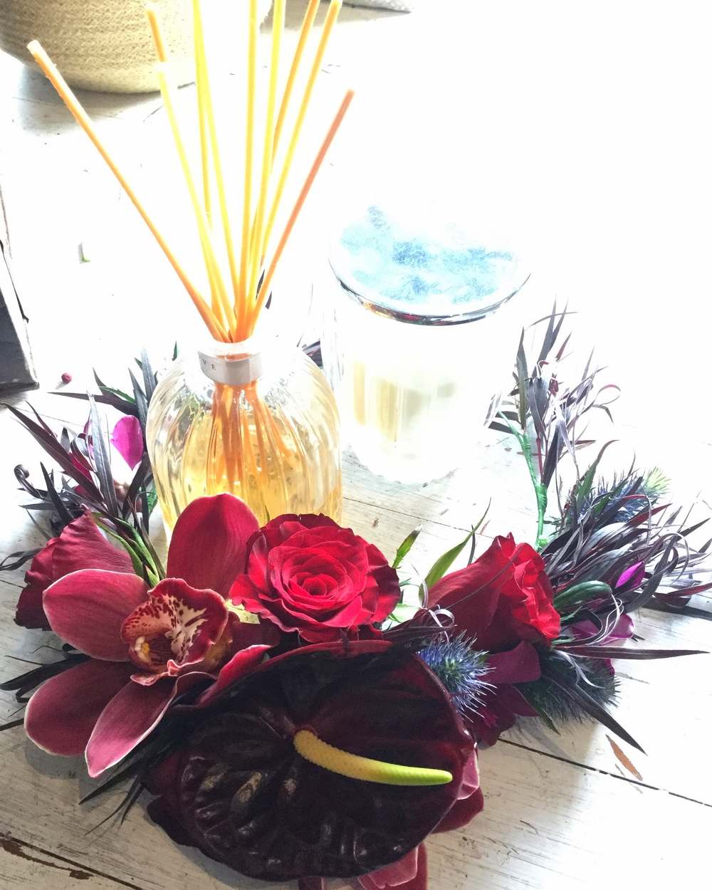 Creating gorgeous crowns for our gorgeous clientele at En Saison Willoughby florist.