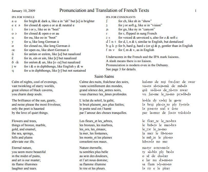 http://www.baychoralguild.org/chorister/GallicFlavorPronunciation.pdf