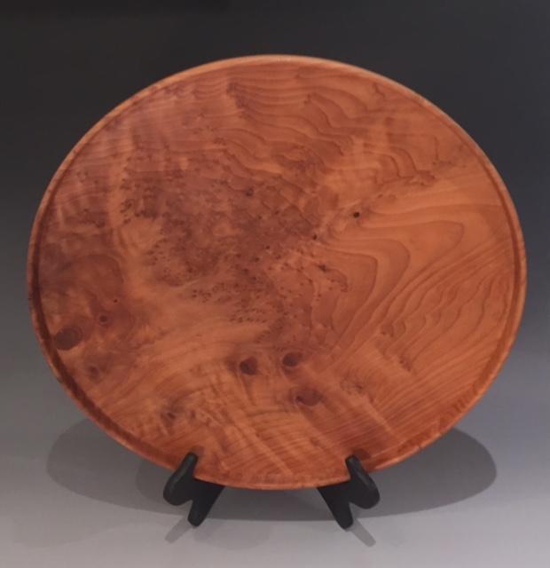 "Redwood burl Platter, 19"" across."