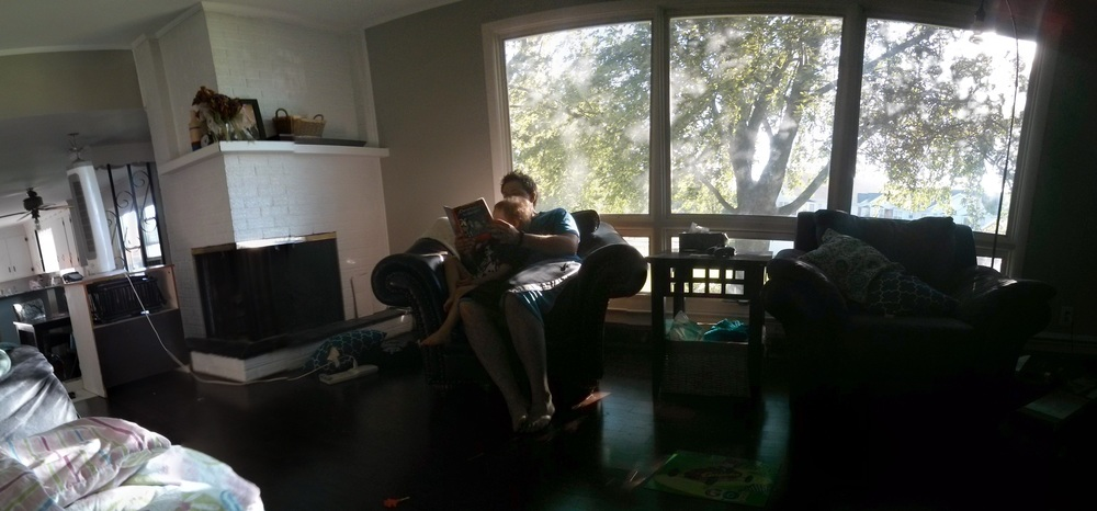 This was taken soon after we moved in. Excuse the mess. :)