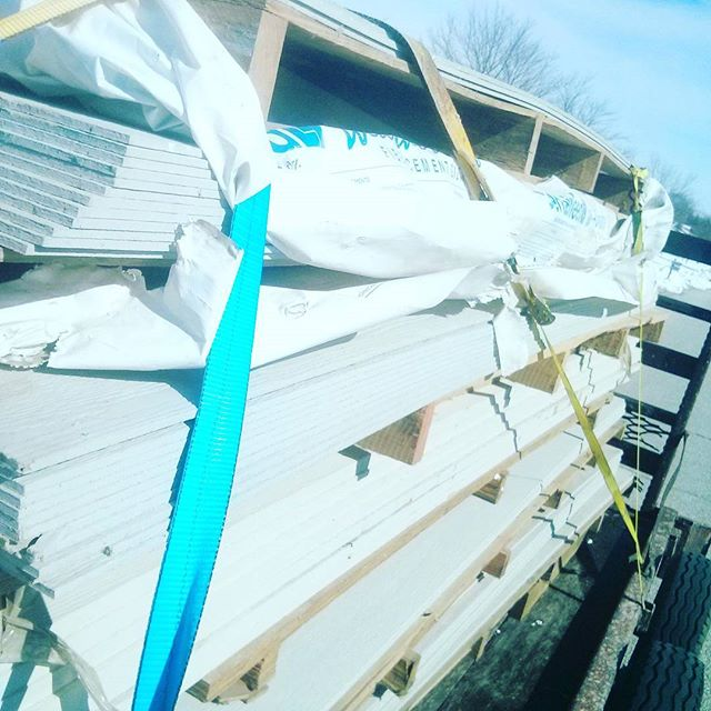It's a good Saturday when you get enough free brand new siding to finish your house and build a garage. #cementboard #siding #homeimprovement  #reno