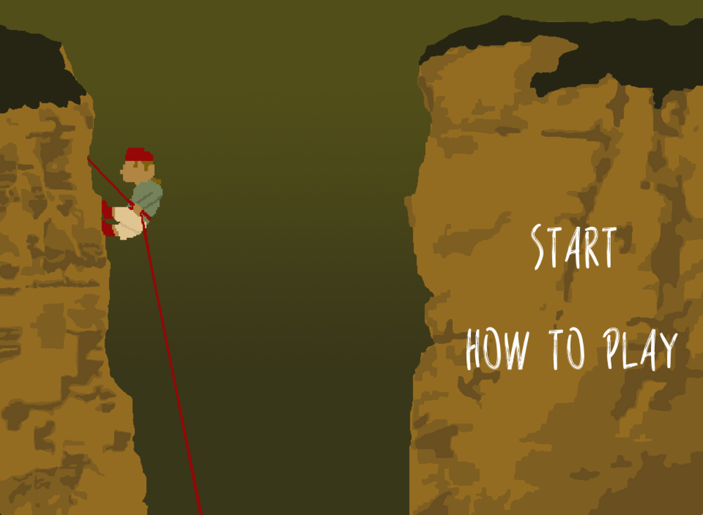 Rappel!  , 2014  A 2D side-scrolling platformer about a climber who has fallen into a system of caves. This was a solo project from Quinn's sophomore year of college.  [ Download it here. ]
