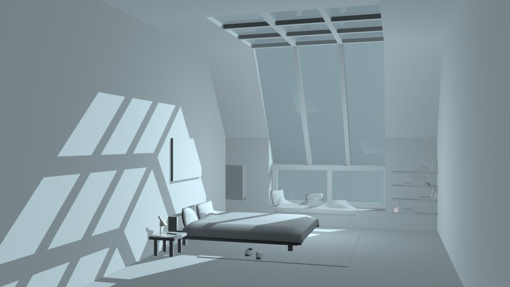 Bedroom.  Maya, mental ray, 2015