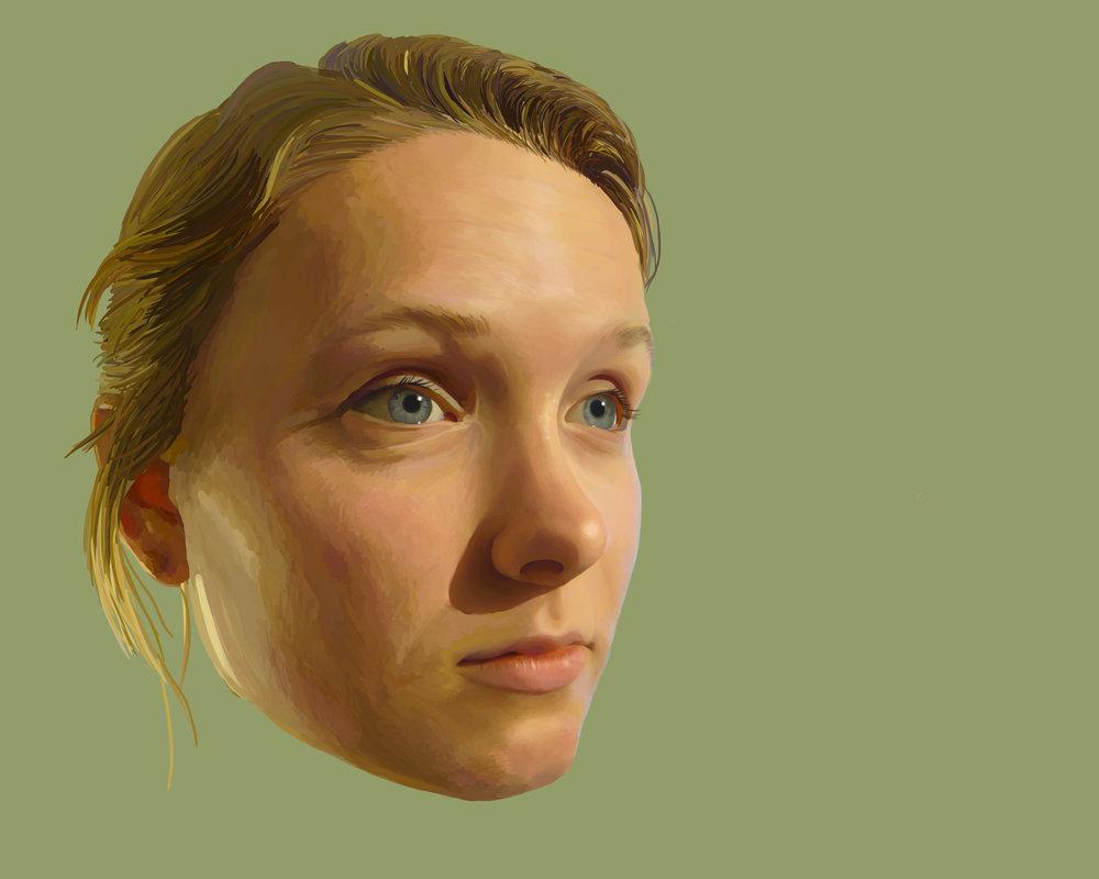 """""""Brittney"""" Portrait, 2015"""