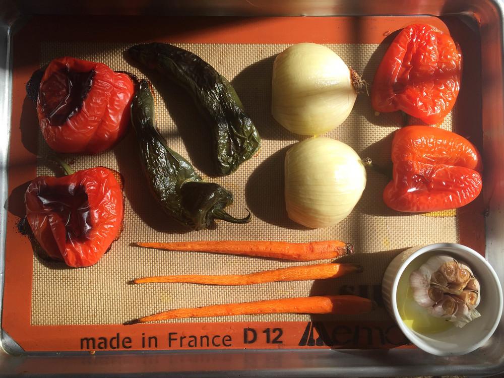 Black bean soup vegetables