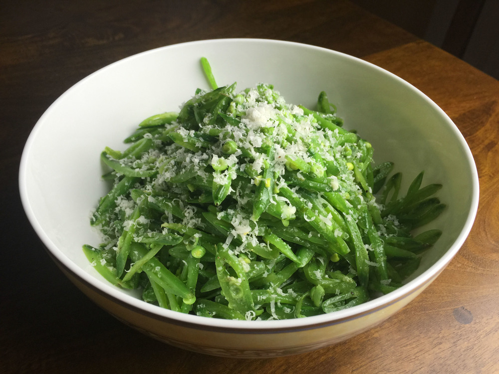 Sugar-snap pea salad with lemon and parmesan