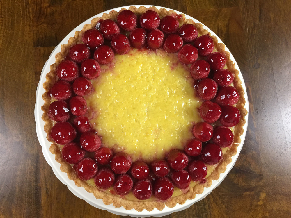 Lemon-raspberry tart