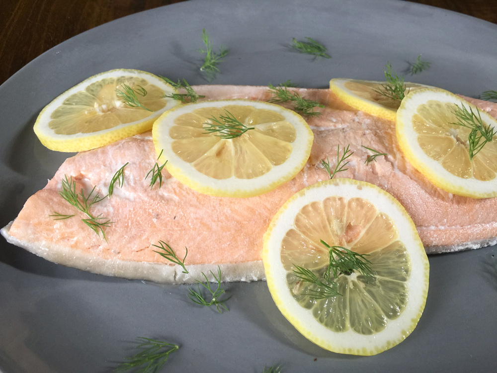 Cold poached arctic char