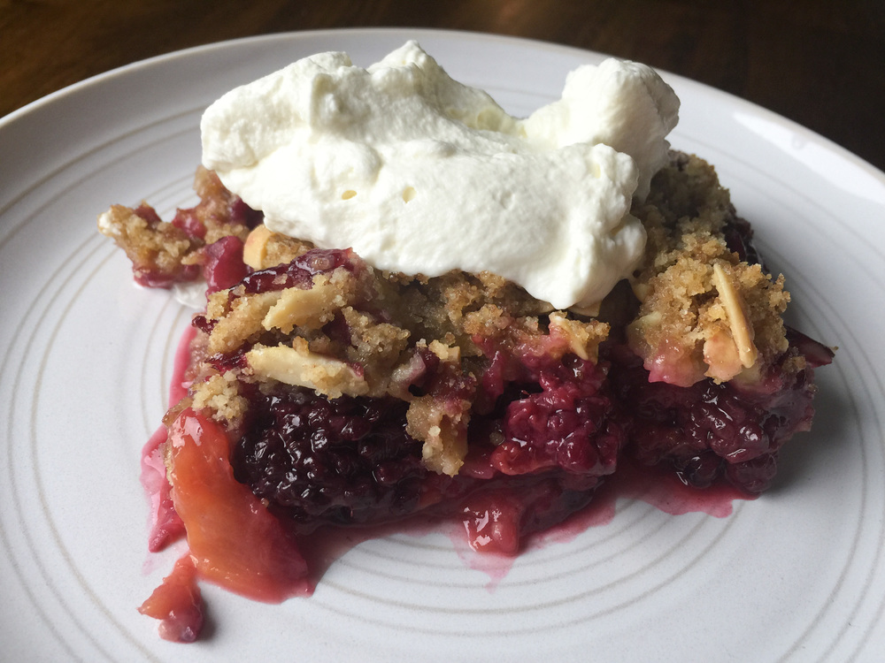 Berry and Peach Crisp