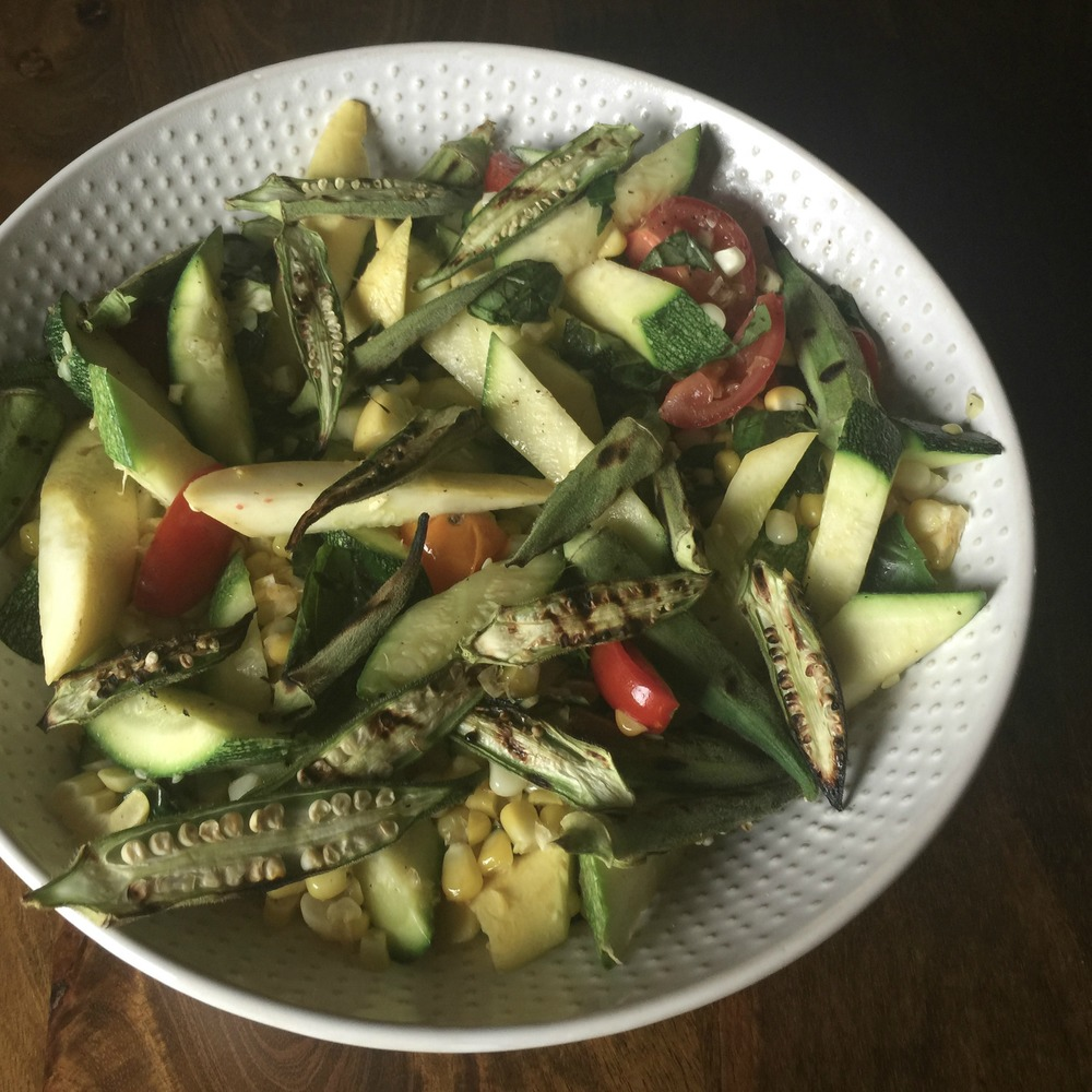 Warm Summer Salad Without Borders